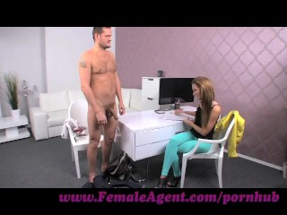 Preview 6 of FemaleAgent. Big cock delivers creampie present after casting fuck frenzy