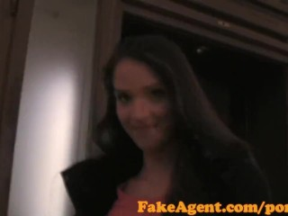 Preview 1 of FakeAgent Failed swimwear model tries Casting interview for work