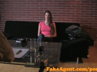 Preview 3 of FakeAgent Failed swimwear model tries Casting interview for work