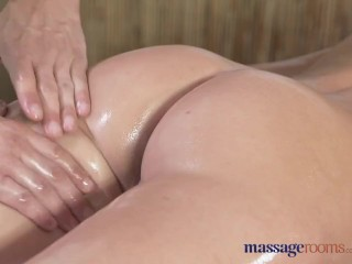 Preview 6 of Massage Rooms Horny petite blonde has her shaved hole filled up to the max