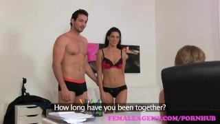 FemaleAgent Sexy threesome with Spanish couple