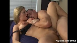 Blonde MILF Avy gets her wet pussy pounded