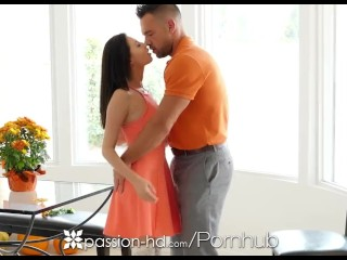 Preview 6 of Passion-HD - Guy fucks his step daughter Carolina Sweets on Thanksgiving
