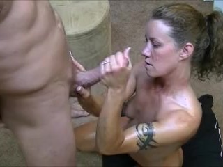 Preview 5 of Hotwife gives 2 handjobs to husband while telling him about her gangbangs