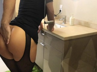 Preview 2 of Step brother take sister in shower and cum on shes ass