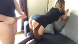 step bro take step sis to the hotel room and cum on shes ass