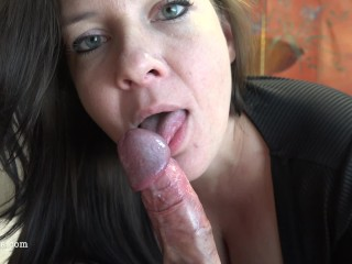 Preview 3 of Busty Milf Sucks And Rides For A Huge Creampie - POV 4K - Reverse Cowgirl