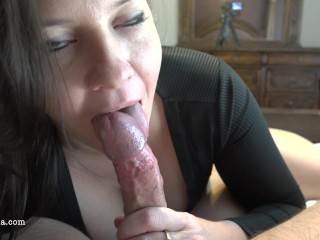 Preview 4 of Busty Milf Sucks And Rides For A Huge Creampie - POV 4K - Reverse Cowgirl