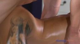 Massage Rooms Skinny blonde gives POV blowjob before taking hard cock