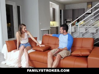 Preview 3 of FamilyStrokes - Making My Hot StepCousin Squirt