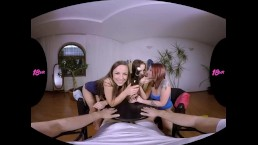 18VR.com Bottle Spinning Leads To A Wild Threesome