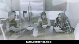 FamilyStrokes - Daddy's Girl Fucked While Mom Sleeps