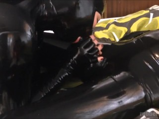 Preview 6 of latex catsuit sex - fucking young horny rubberdoll