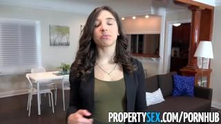 PropertySex - College student fucks big ass real estate agent