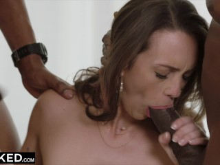 Preview 3 of BLACKED Spoiled Rich Girl Cheats With Two BBCs