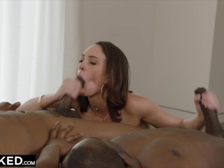 Preview 5 of BLACKED Spoiled Rich Girl Cheats With Two BBCs