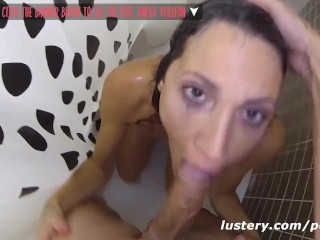 Preview 4 of Real Girlfriend deepthroats and fucks in shower quickie
