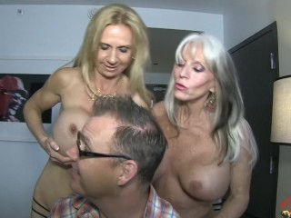 Preview 2 of Sally D'angelo and Brooke Tyler FUCK the neighbor next door