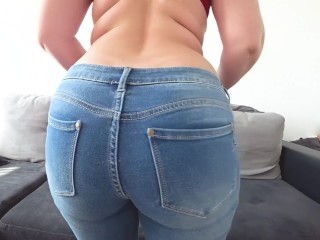 Preview 1 of Schoolgirl after school fucked through jeans