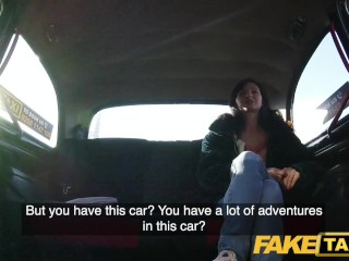 Preview 4 of Fake Taxi Lucky drivers cock fills sexy passengers tight pink pussy