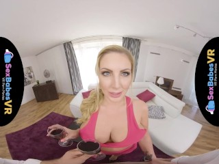Preview 2 of SexBabesVR - 180 VR Porn - Cum Covered Tits with Georgie Lyall