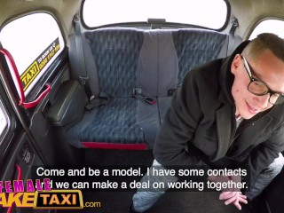 Preview 3 of Female Fake Taxi Bored busty driver swaps fare for hot taxi fuck