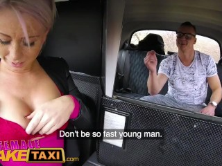 Preview 6 of Female Fake Taxi Bored busty driver swaps fare for hot taxi fuck