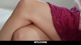 MYLF - Milf Lesbian Seduces Straight Girl