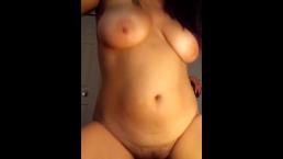 Mesmerizing titties while riding a big cock