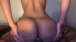 Bubble BOOTY agressively riding my dick till i BUST INSIDE OF HER