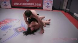 Juliette March Nude Wrestling fingered and fucked roughly at EvolvedFights