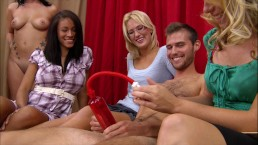 BRANDI BELLE - Small Dick Guy Gets His Penis Pumped At A CFNM Gathering