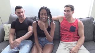 2 Bi Guys Fuck Hottest Black Girl On PornHub. BI SEXUAL MEN