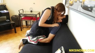 Indian guy fucks Gori Ma'am in her ass and she squirts in his mouth