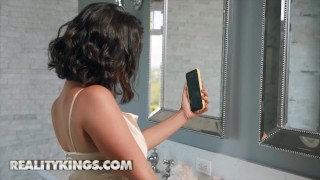 Reality Kings -LaSirena69 deepthroats roommat and cucks bf over phone
