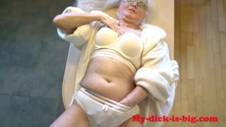 Granny 70 yo Gets Fucked In Kitchen. Grandma creampie! My-dick-is-big 4K