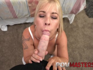 Preview 4 of Big Tits MILF Joclyn Stone Talks Dirty while taking Big Cock POV Sex
