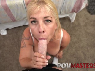 Preview 5 of Big Tits MILF Joclyn Stone Talks Dirty while taking Big Cock POV Sex
