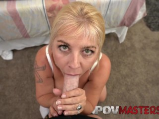 Preview 6 of Big Tits MILF Joclyn Stone Talks Dirty while taking Big Cock POV Sex